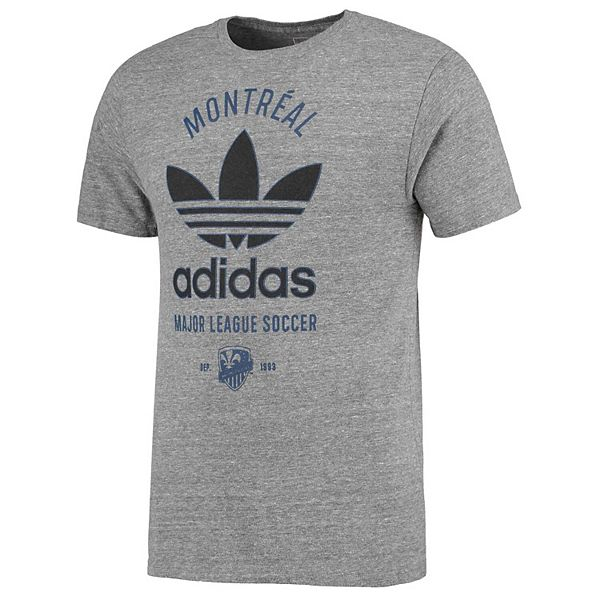 Men's adidas Gray Montreal Impact Classic Label Tri-Blend T-Shirt