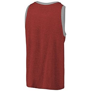 Men's Fanatics Branded Cardinal Real Salt Lake Tri-Blend Tank Top