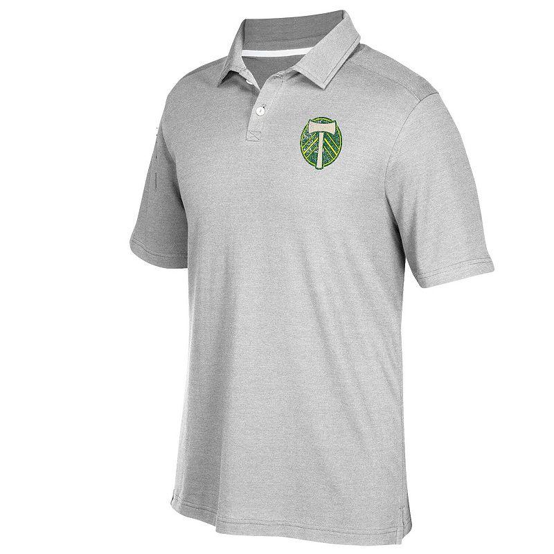 Men's adidas Gray Portland Timbers Team Logo Polo. Size: Small. Grey