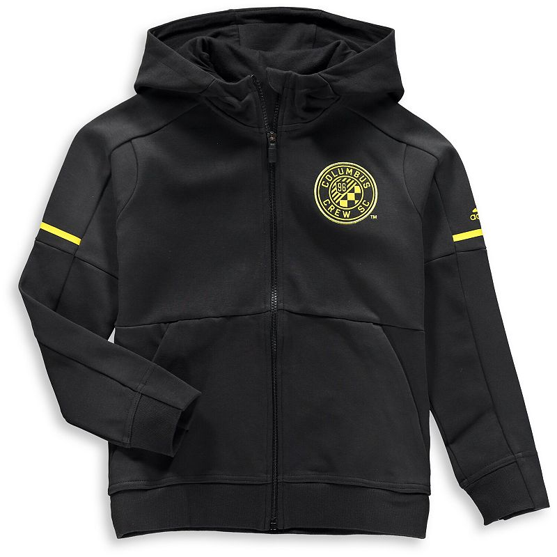 Youth adidas Black Columbus Crew SC Travel Jacket. Boy's. Size: Youth XL