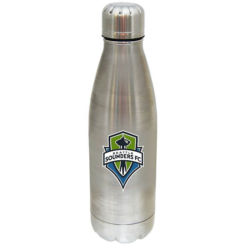 Seattle Sounders FC 17oz. Stainless Steel Water Bottle. Multicolor