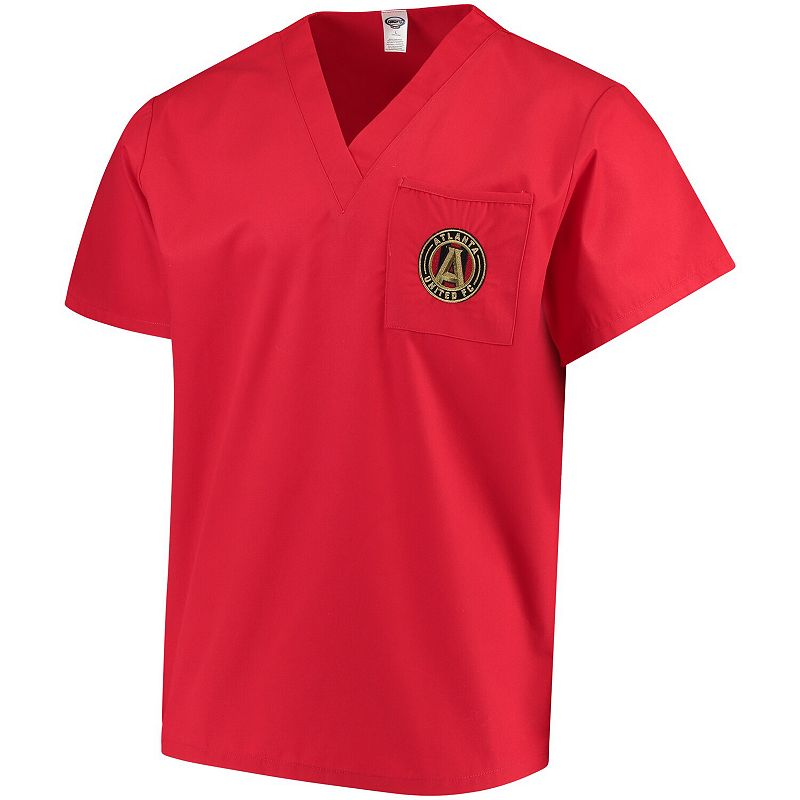 Concepts Sport Red Atlanta United FC Scrub Top. Adult Unisex. Size: Small
