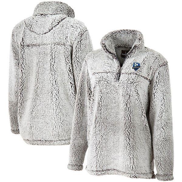 Women's Gray Montreal Impact Sherpa Quarter-Zip Pullover Jacket