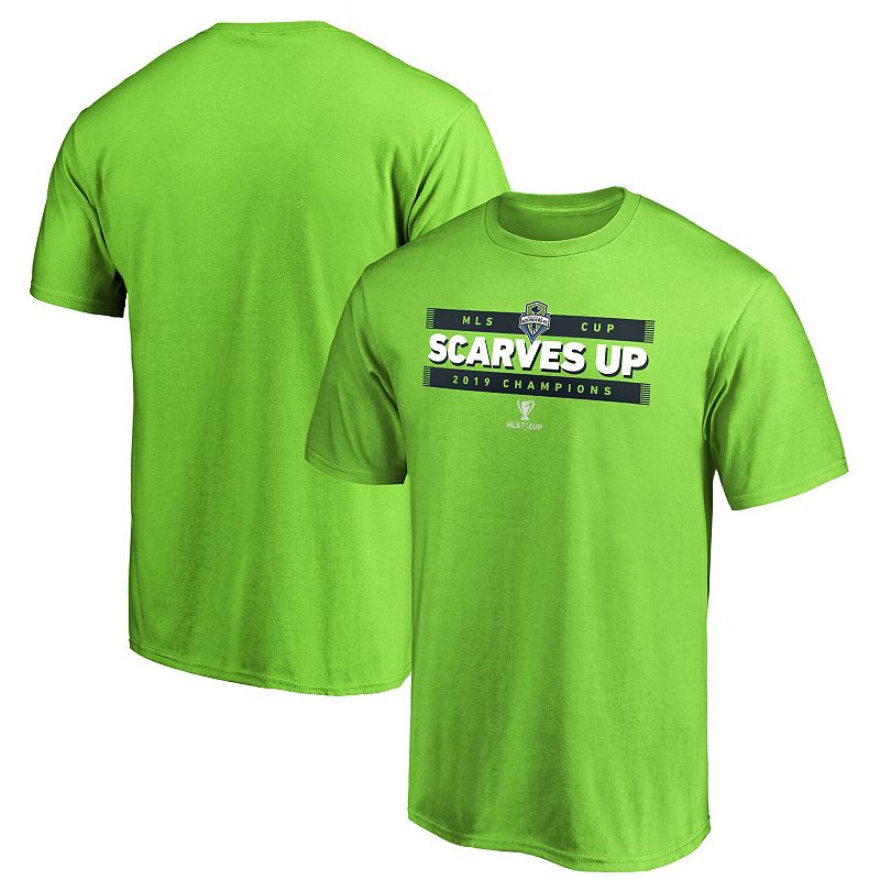 Men's Fanatics Branded Green Seattle Sounders FC 2019 MLS Cup Champions Primo T-Shirt, Size: XL