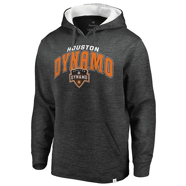 Men's Fanatics Branded Heathered Gray Houston Dynamo Pullover Hoodie