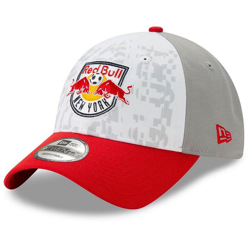 Men's New Era White New York Red Bulls Jersey Hook 9TWENTY Adjustable Hat