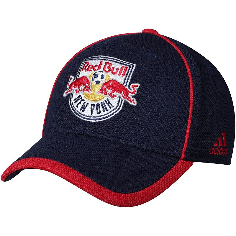 Men's adidas Navy New York Red Bulls Cut and Sew Structured Adjustable Hat. Blue