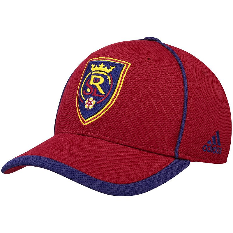 Men's adidas Red Real Salt Lake Cut and Sew Structured Adjustable Hat