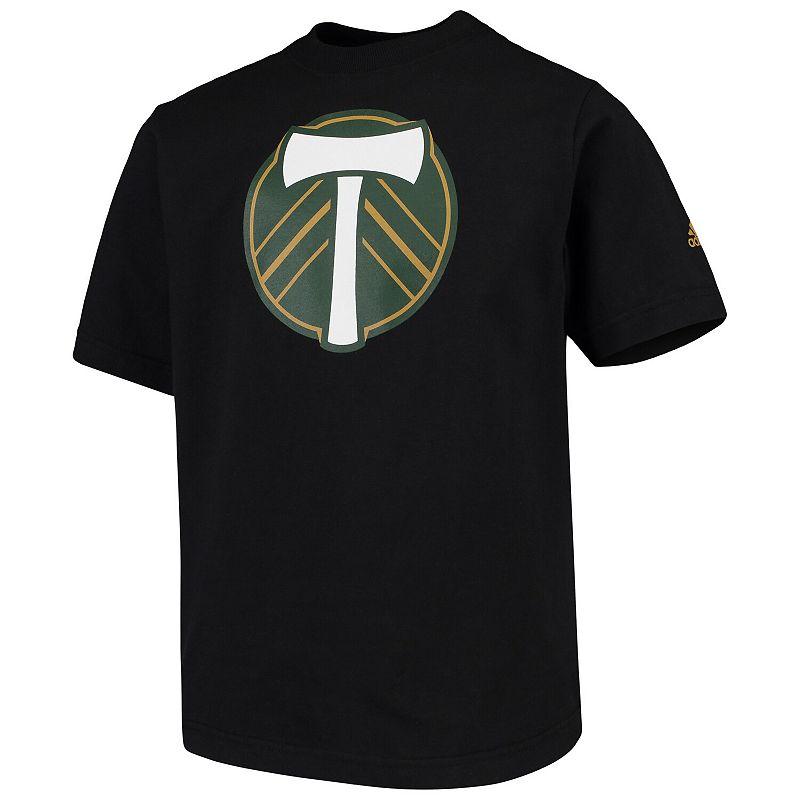 Youth adidas Black Portland Timbers Squad Primary T-Shirt. Boy's. Size: YTH Large