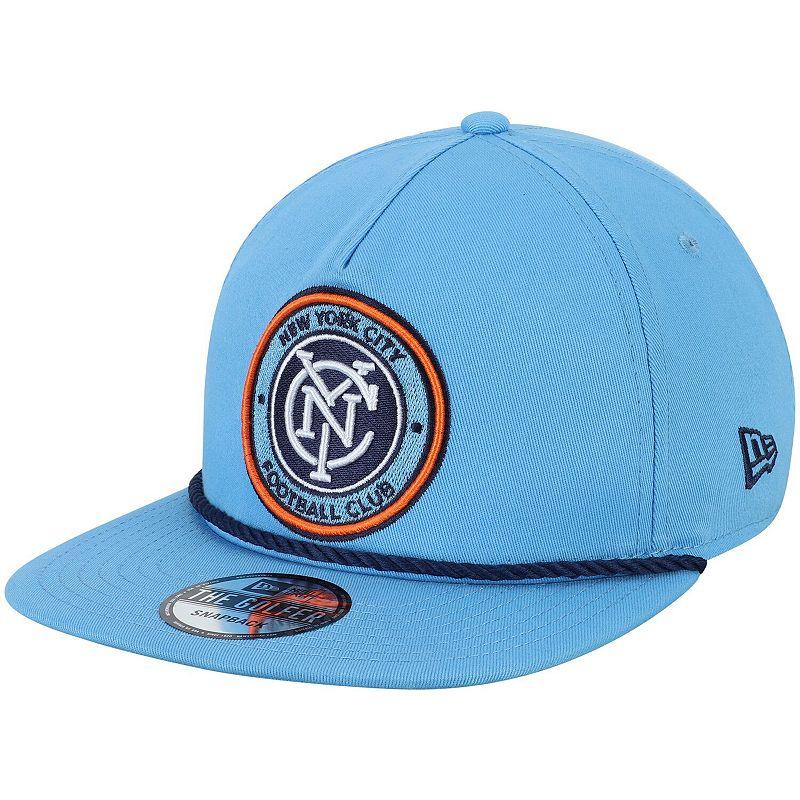 Men's New Era Sky Blue New York City FC Golfer Rope Snapback Hat, Light Blue