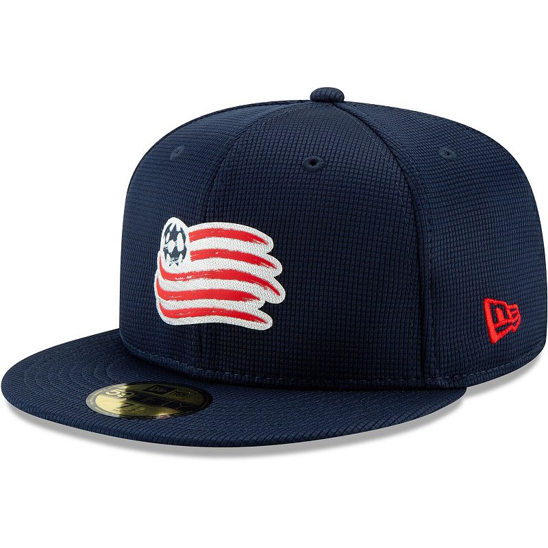 New England Revolution New Era On-Field 59FIFTY Fitted Hat - Blue. Size: 7 1/8