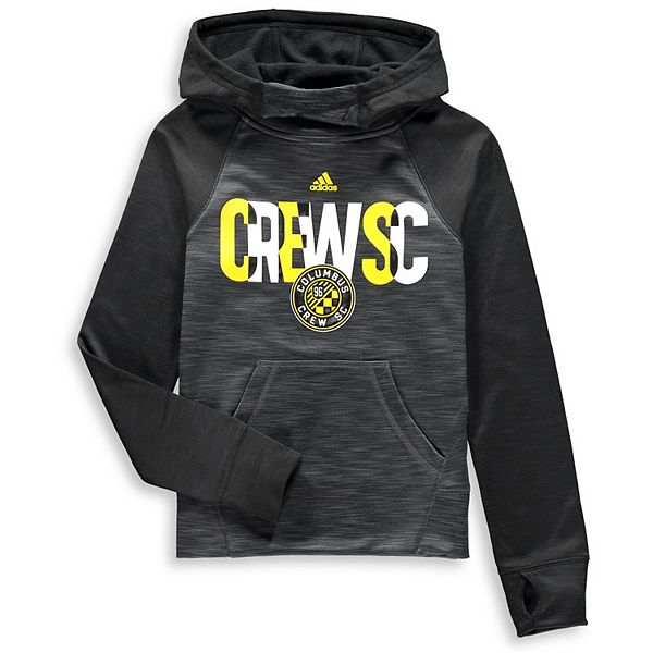 Girls Youth adidas Heathered Charcoal Columbus Crew SC Target Forward Pullover Hoodie