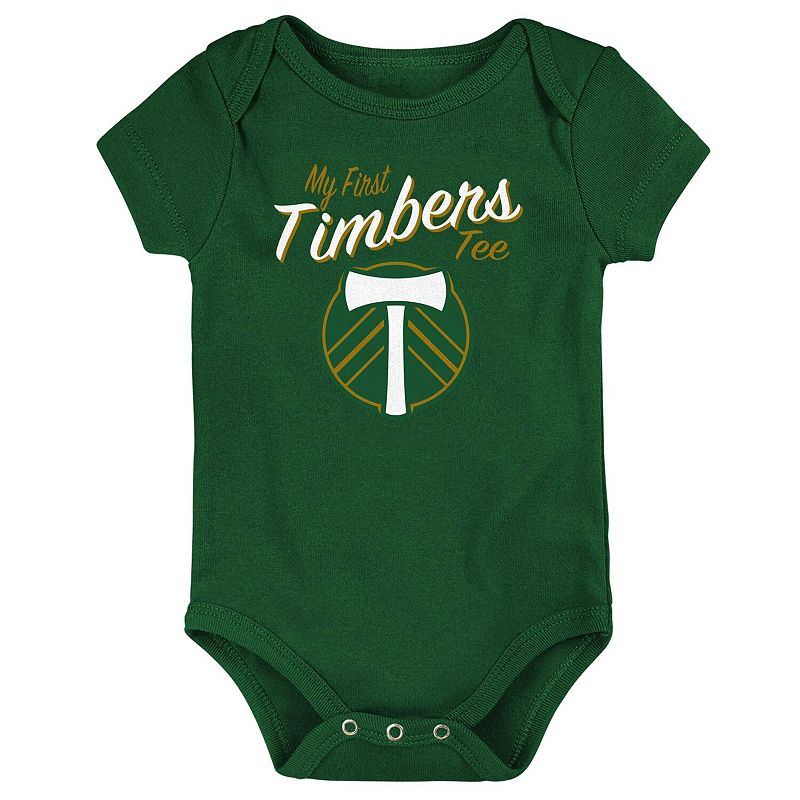 Portland Timbers Newborn & Infant My New First Bodysuit - Green. Infant Unisex. Size: 6-9 Months