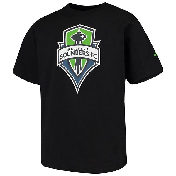 Youth adidas Black Seattle Sounders FC Squad Primary T-Shirt