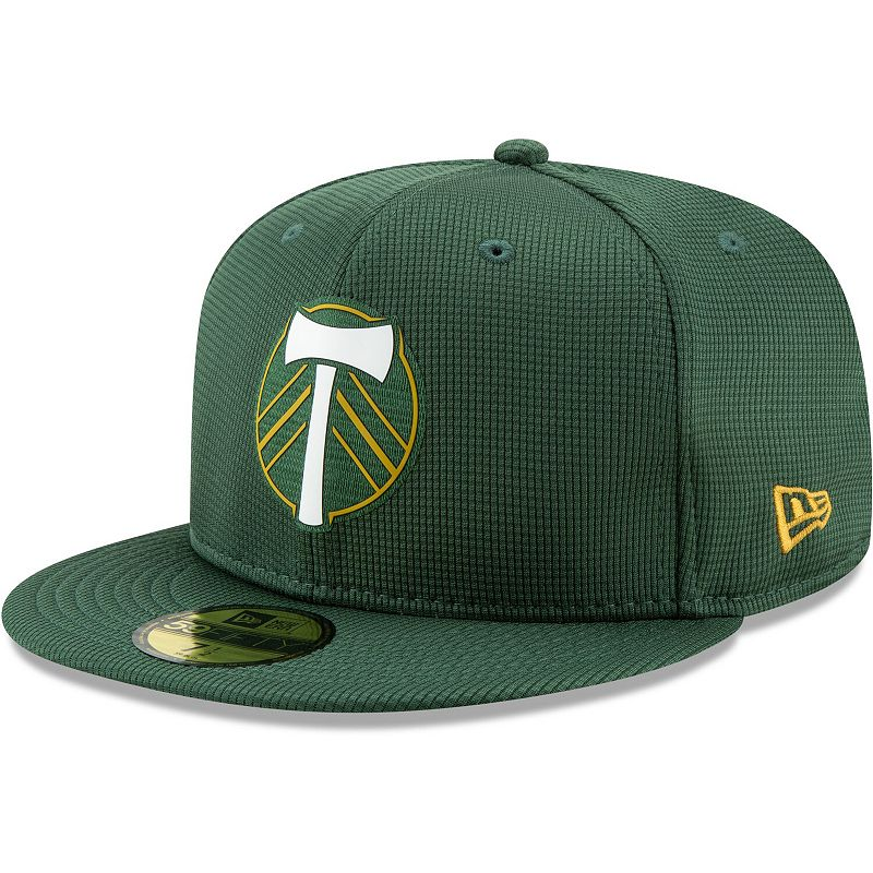 Portland Timbers New Era On-Field 59FIFTY Fitted Hat - Green. Size: 7 1/8