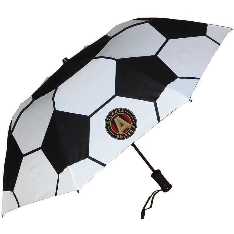 Atlanta United FC Soccer Auto Folding Umbrella. White