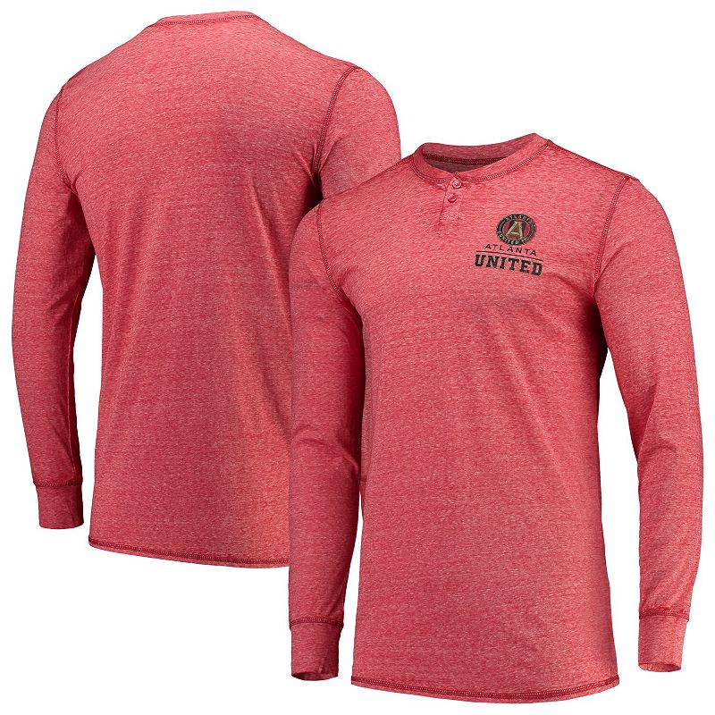 Men's Concepts Sport Red Atlanta United FC Podium Henley Long Sleeve T-Shirt. Size: Small