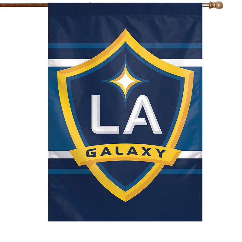 """WinCraft LA Galaxy 28"""" x 40"""" Double-Sided Vertical Flag. Multicolor"""