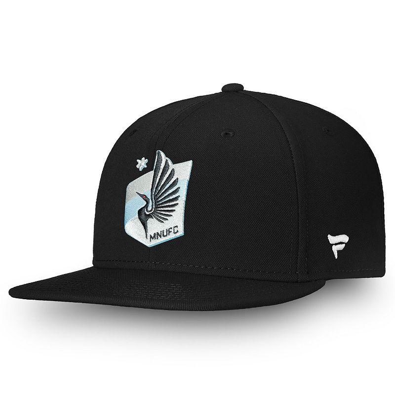 Men's Fanatics Branded Black Minnesota United FC Primary Emblem Snapback Adjustable Hat
