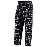 Men's Concepts Sport Black Minnesota United FC Midfield All-Over Print Sleep Pants