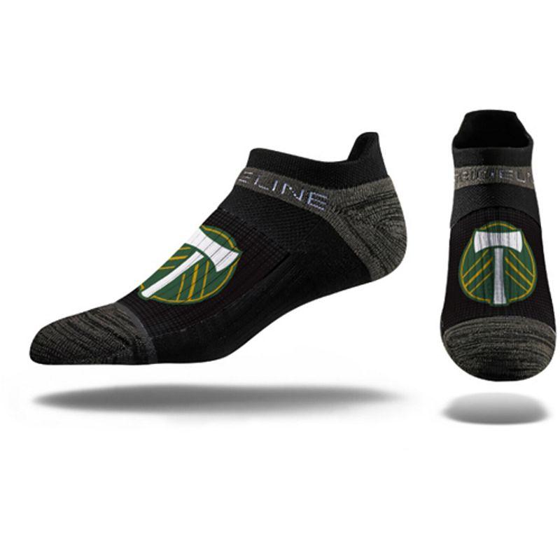 Men's Black Portland Timbers Premium Low Cut Socks, Size: Medium/Large