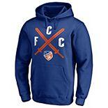 Men's Fanatics Branded Royal FC Cincinnati Crossing Swords Pullover Hoodie