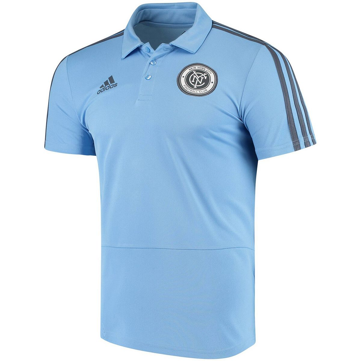 Men's adidas Navy New York City FC 2018 Coaches climalite Polo Zry8y