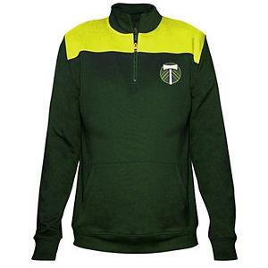 Women's Majestic Green Portland Timbers 1/4-Zip Pullover Jacket