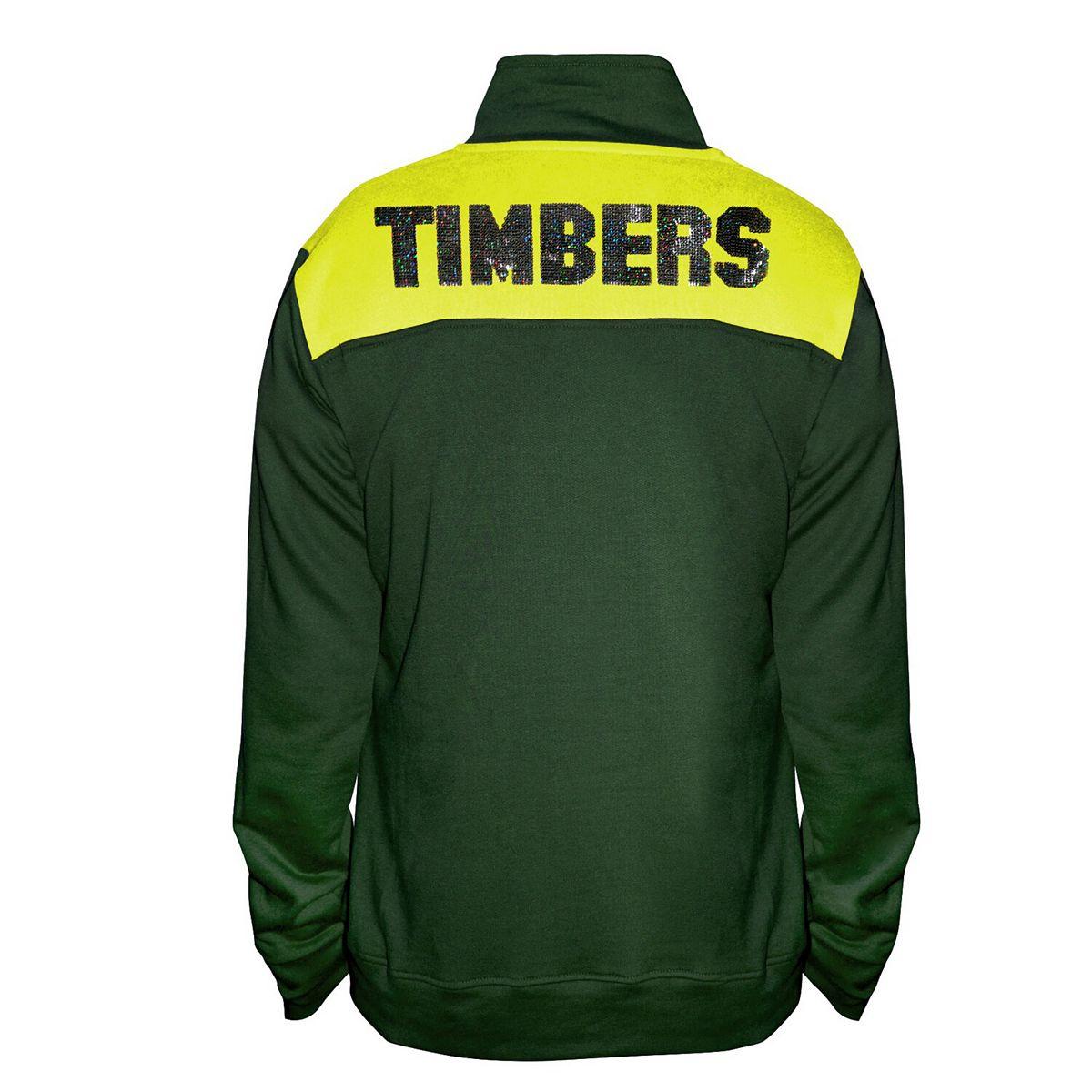 Women's Majestic Green Portland Timbers 1/4-Zip Pullover Jacket ZnbE3