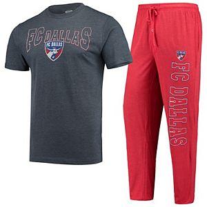 Men's Concepts Sport Charcoal/Red FC Dallas T-Shirt & Pants Sleep Set