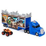 Monster Jam, Official 2-in-1 Transforming Hauler Playset with Exclusive 1:64 Scale Die-Cast Monster Truck