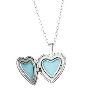 """Charming Girl Sterling Silver """"Love You to the Moon"""" Locket Necklace"""