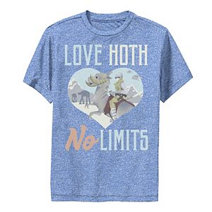 Boys 8-20 Star Wars Love Hoth No Limits Text Performance Graphic Tee