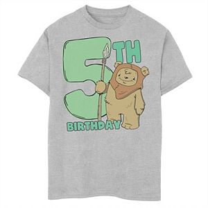 Boys 8-20 Star Wars Cute Ewok 5th Birthday Graphic Tee