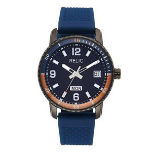 Relic by Fossil Men's Sanger Navy Silicone Watch - ZR12641
