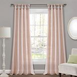 Lush Decor 2-pack Burlap Knotted Tab Top Window Curtain Set