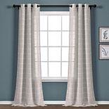 Lush Decor 2-pack Farmhouse Textured Grommet Sheer Window Curtain Set