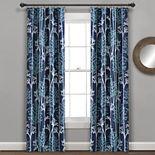 Lush Decor 2-pack Linear Tree Insulated Rod Pocket 100% Blackout Window Curtain Set