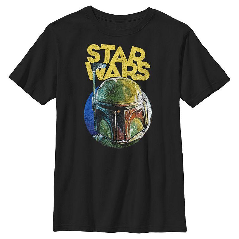 Boys 8-20 Star Wars Boba Grunge Helmet Graphic Tee. Boy's. Size: Small. Black