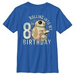 Boys 8-20 Star Wars BB-8 & D-O Rolling Into My 8th Birthday Graphic Tee