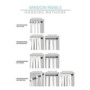 Lush Decor 2-pack Linen Button Window Curtain Set