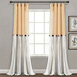 Lush Decor Linen Button Window Curtain Panel