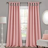 Lush Decor 2-pack Insulated Knotted Tab Top Blackout Window Curtain Set