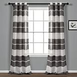 Lush Decor 2-pack Textured Stripe Grommet Sheer Window Curtains