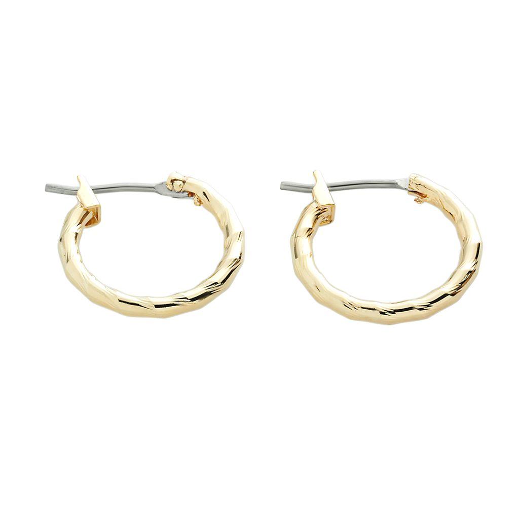 Napier® Gold-Tone Twist Hoop Earrings