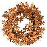 National Tree Company Harvest Artificial Oak Leaves Acorns Wreath