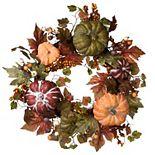 National Tree Company Harvest Artificial Maple Pumpkin Wreath