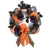 National Tree Company Halloween Ribbon Wreath