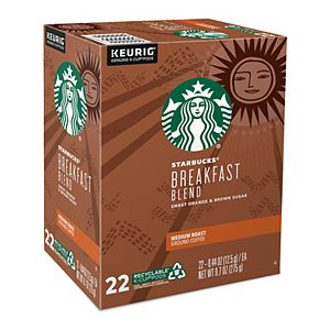 Starbucks® Breakfast Blend Coffee, Keurig® K-Cup® Pods, Medium Roast, 22 Count