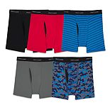 Boys 4-20 Fruit of the Loom® 5-Pack Cool-Zone Fly Boxer Briefs